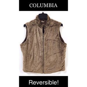 Columbia Faux Fur Vest Women's XL
